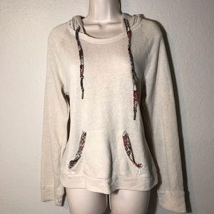 American Rag Cie hoodie with floral hood & details